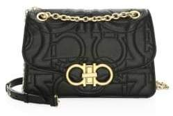 Salvatore Ferragamo Large Quilted Flap Leather Crossbody Bag