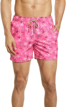 Bugatchi Starfish Nylon Swim Trunks