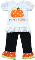 Honeydew Orange & Black 'Pumpkin' Top & Pants - Infant, Toddler & Girls