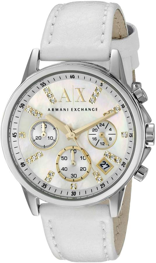 Armani Exchange A|X  Women's AX4328 White Leather Watch