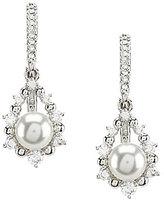 Nadri Pearl Drop Leverback Earrings