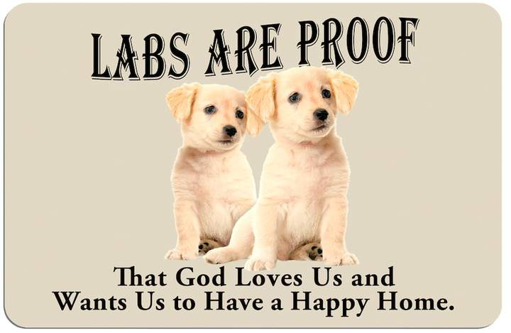Kohl's Yellow ''Labs are Proof'' Dog Floor Mat