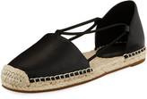 Eileen Fisher Lee d'Orsay Flat Leather Espadrille Sandal