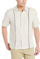 Cubavera Men's Short-Sleeve Essential Point-Collar Woven Shirt with Tucking