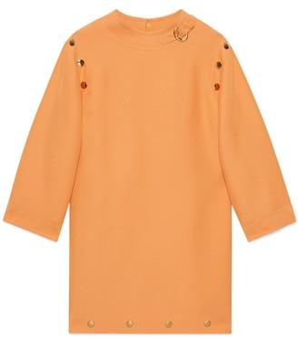 Gucci Cady wool silk short dress