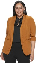 Apt. 9 Plus Size Unlined Shawl Collar Blazer with Pleat Sleeve
