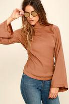 LuLu*s Simplest Love Rust Orange Long Sleeve Top