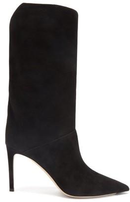 Jimmy Choo Beren 85 Suede Boots - Black