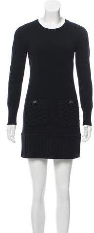 Chanel Quilted Cashmere Dress
