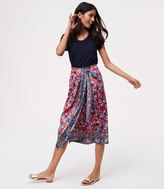 LOFT Petite Rose Garden Wrap Skirt