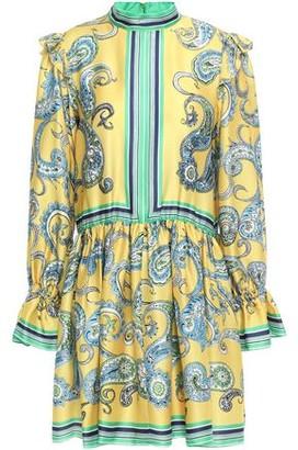 Philosophy di Lorenzo Serafini Ruffle-trimmed Printed Satin-twill Mini Dress
