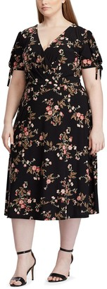 Chaps Plus Size Midi Fit and Flare Dress