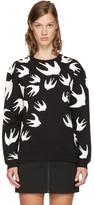 McQ Black & White Swallows Sweatshirt