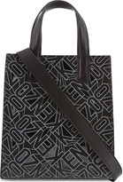 Kenzo Cutout logo small leather tote