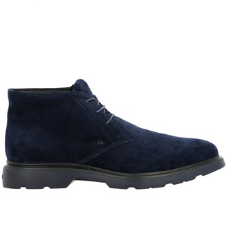 Hogan Chukka Boots Route 393 Ankle Boots (h304 + Memory Sole In Suede