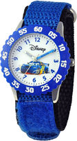 Disney Cars Kids Nylon Strap Easy-Read Fast Strap Watch