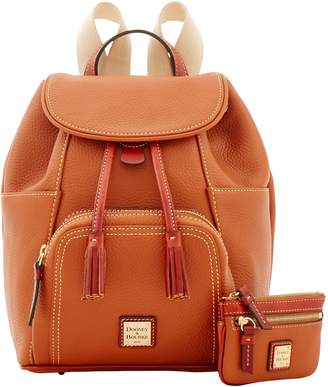 Dooney & Bourke Pebble Grain Medium Backpack Small Coin Case