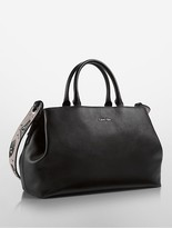 Calvin Klein Smooth Triple Compartment Satchel