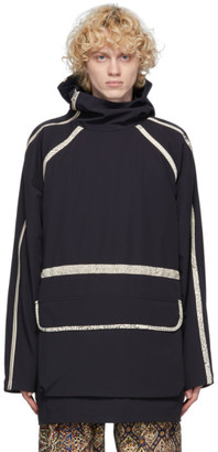 paria /FARZANEH Black Zip Sleeve Anorak Jacket
