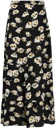 BA&SH Floral-Print Maxi Skirt