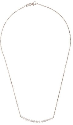 Anita Ko 18kt white gold Crescent diamond necklace
