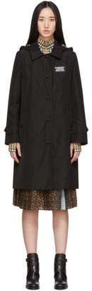 Burberry Black Oxclose Pimlico Hooded Coat
