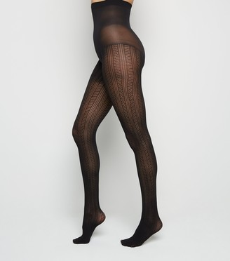 New Look Pointelle Stripe Tights