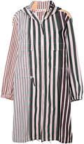 Marni contrasting stripe rain coat