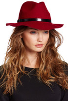 San Diego Hat Company Embossed Leather & Wool Fedora