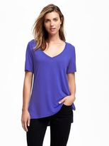 Old Navy Relaxed Drapey V-Neck Tee for Women