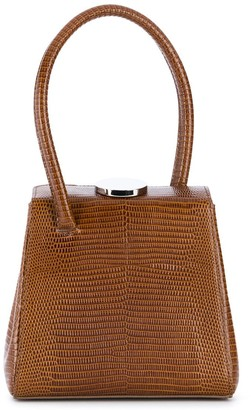 Little Liffner Mademoiselle embossed top handle bag