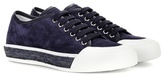 Tod's Lace-up sneaker with raffia sole