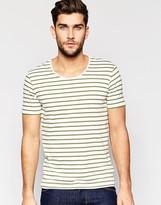 Benetton Crew Neck T-Shirt with Stripe