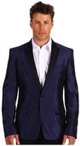 Versace Peak Lapel Tuxedo Jacket (Midnight Blue) - Apparel