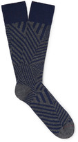 Mr. Gray - Coolmax Jacquard-knit Socks