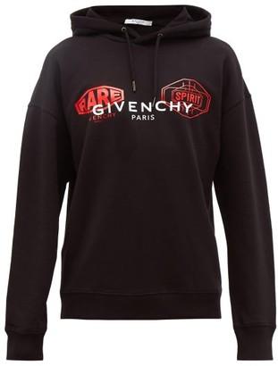 Givenchy Rare Spirit Logo-print Cotton Hooded Sweatshirt - Mens - Black