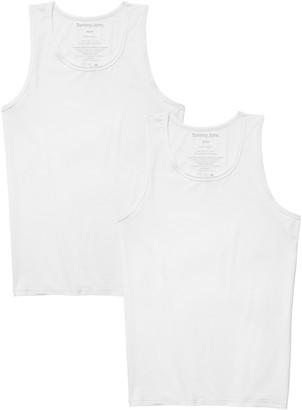 Tommy John Basics Stay-Tucked Tank Undershirt - Pack of 2