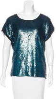 Tory Burch Silk Embellished Blouse