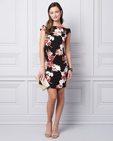 Le Château Floral Print Ponte Knit Cocktail Dress