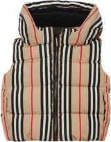 Burberry Leon Stripe Down Hooded Vest