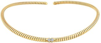 MARINA B 18kt yellow gold Trisolina pave diamond collar necklace
