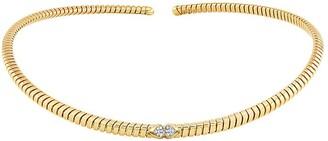 MARINA B 18kt yellow gold Trisolina pave diamond collar necklace