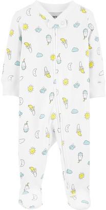 Carter's Baby Banana & Moons 2-Way Zip Stretch Sleep & Play