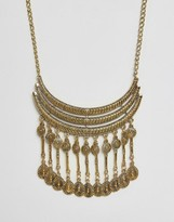 Ruby Rocks Tassel Drop Statement Necklace