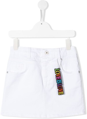 Alberta Ferretti Kids Denim Mini Skirt