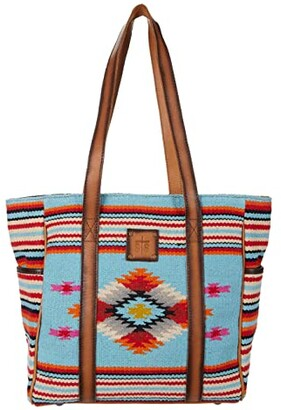 STS Ranchwear Saltillo Tote (Light Blue/Orange/Pink) Handbags