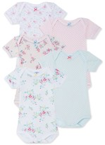 Petit Bateau Pack of 5 baby girl bodysuits