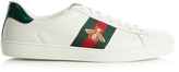 Gucci Ace bee-embroidered low-top leather trainers