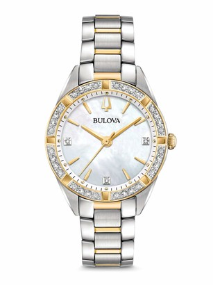Bulova Women's Analogue Classic Quartz Watch with Stainless Steel Strap 98R263