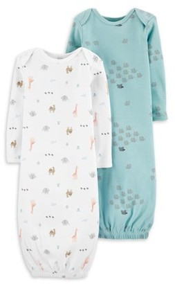 Little Planet Organic by Carter's Newborn Baby Boys Sleeper Gowns Pajamas, 2-Pack (NB-3M)